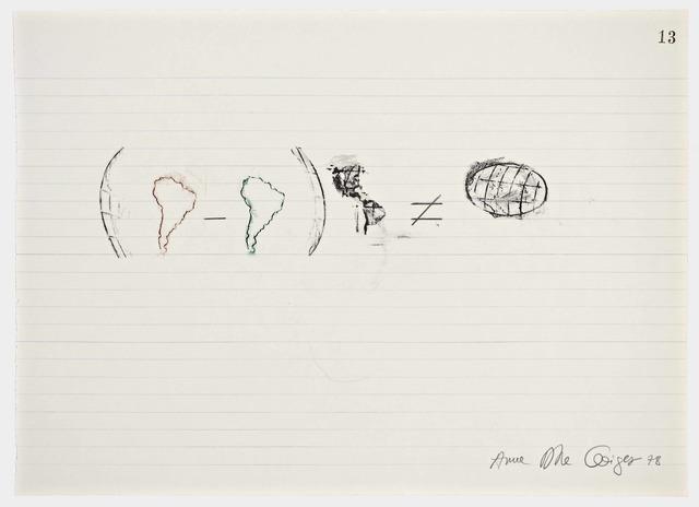 , 'Equations No 13,' 1978, Henrique Faria Fine Art