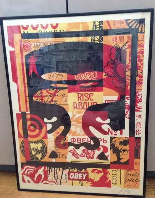 Shepard Fairey, 'Obey Giant Collage (Top)', 2018, Leviton Fine Art