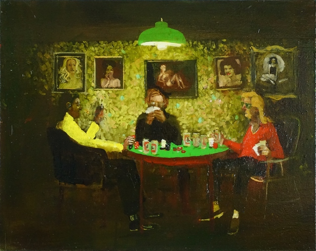 Michael Harrington, 'Poker', 2018, Painting, Huile sur toile / Oil on canvas, Galerie de Bellefeuille