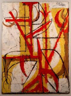 Fritz Bultman, 'Maize Man Red and Yellow', 1948, Octavia Art Gallery