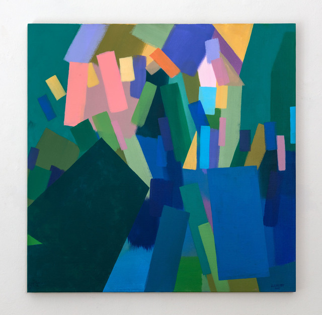 , 'Alignment in Green,' 2015, Galerie Tanit
