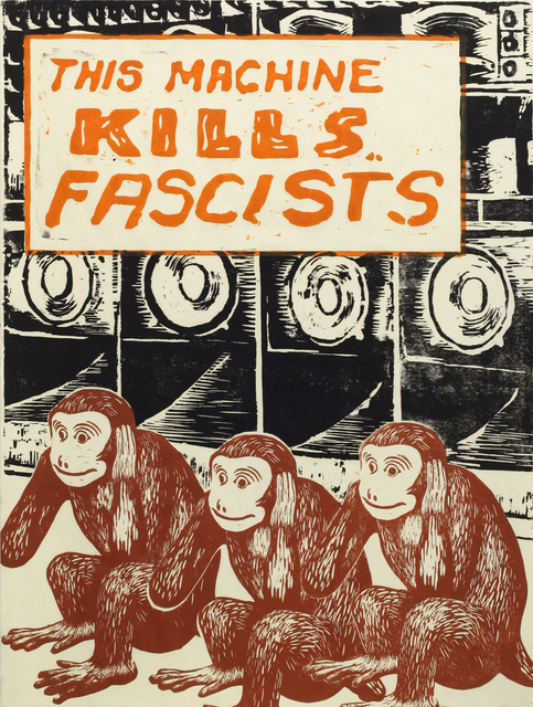 , 'This machine kills fascists,' 2016, Ota Fine Arts
