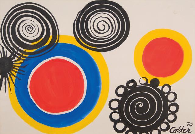 , 'Petalled black spirals,' 1970, Mayoral