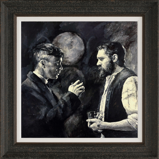 Jon Jones, 'Tommy & Alfie First Meeting', 2021, Print, A hand-varnished giclée on boxed canvas, Castle Fine Art