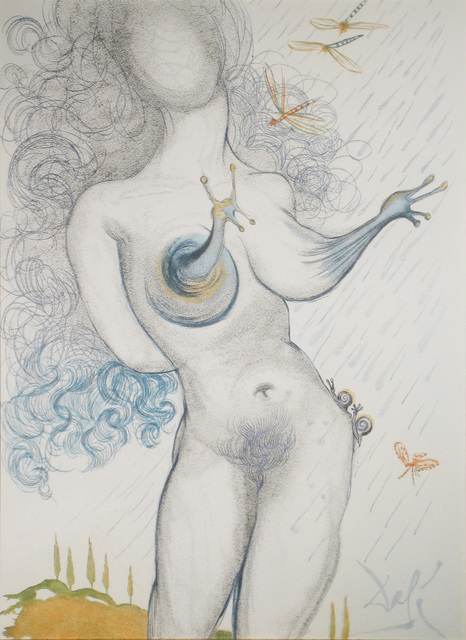 Salvador Dalí, 'Nude with Snail Breasts', 1967, Print, Drypoint with added color, DTR Modern Galleries