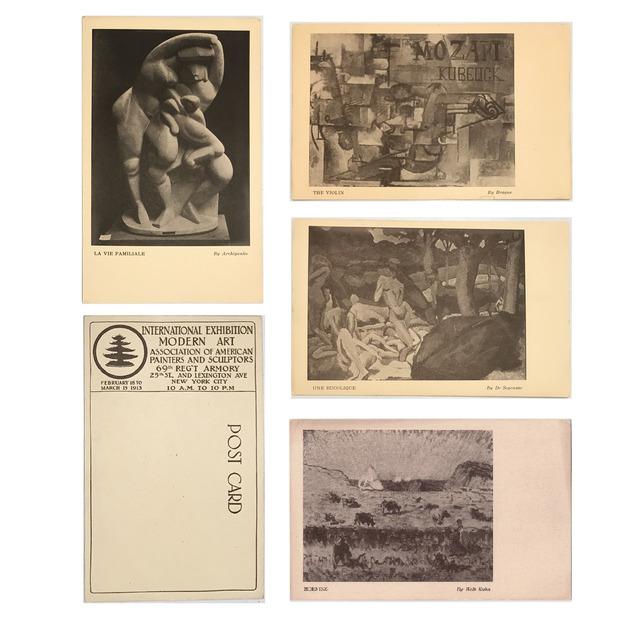1913 Armory Show, '4-EXHIBITION CARD SET: 1913 Armory Show (International Exhibition of Modern Art), Archipenko, Braque, de Segonzac, & Walt Kuhn', 1913, Ephemera or Merchandise, Print, VINCE fine arts/ephemera