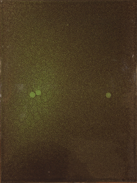 , 'Green/Brown with 3 Spots,' 2011, Foster/White Gallery