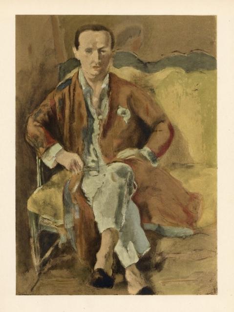 Jules Pascin, 'Portrait de Daragnes', 1928, Painting, Oil on board, Fischtein Fine Art
