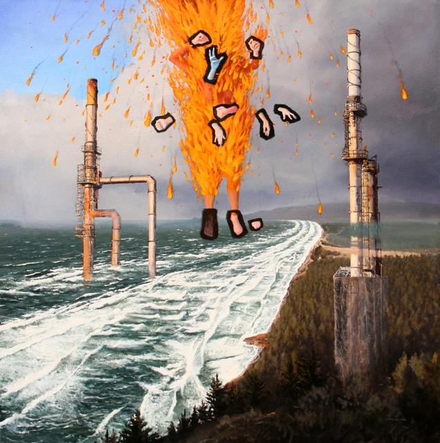 , 'PELE MAKES LANDFALL,' 2014, Judy Ferrara Gallery
