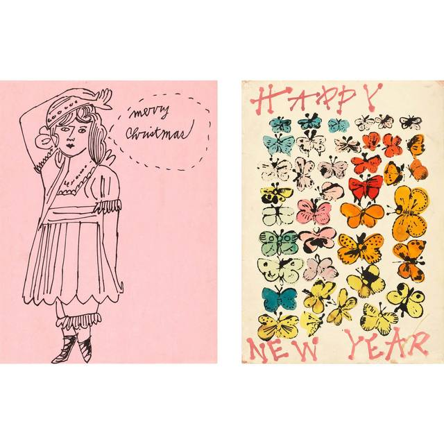 Andy Warhol, 'MERRY CHRISTMAS; HAPPY NEW YEAR', circa 1955, Doyle