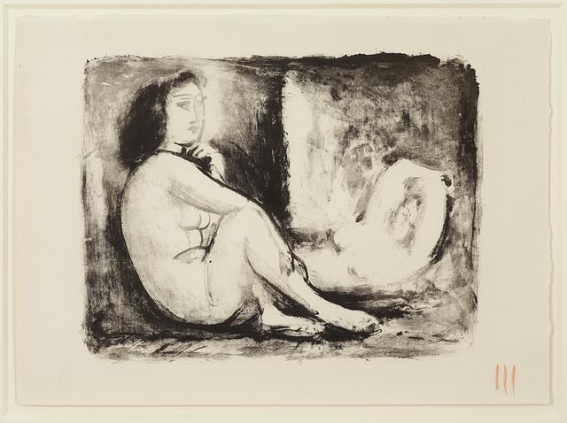 , 'Les Deux Femmes nues, 1(ii) / 2(ii), November 1945,' 1945, Alan Cristea Gallery