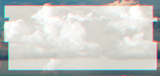 Christian Eckart, 'Long Glitched Cloud', 2019, McClain Gallery