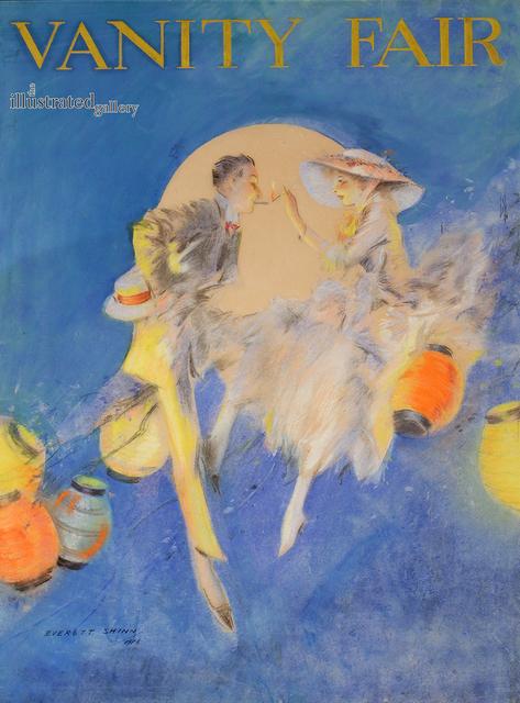 Everett Shinn, 'Couple Sitting Among Lanterns, Cover for Vanity Fair', The Illustrated Gallery