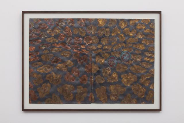 Antonio Dias, 'Untitled', 1990, Painting, Graphite, copper , malachite and gold on paper, Galeria Nara Roesler