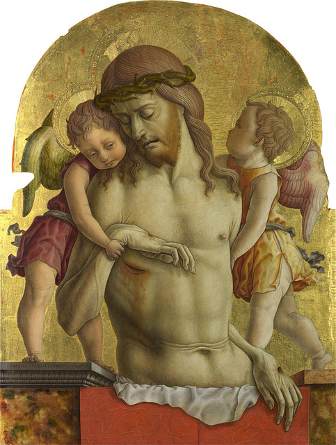 , 'The Dead Christ supported by Two Angels ,' About 1470-5, The National Gallery, London