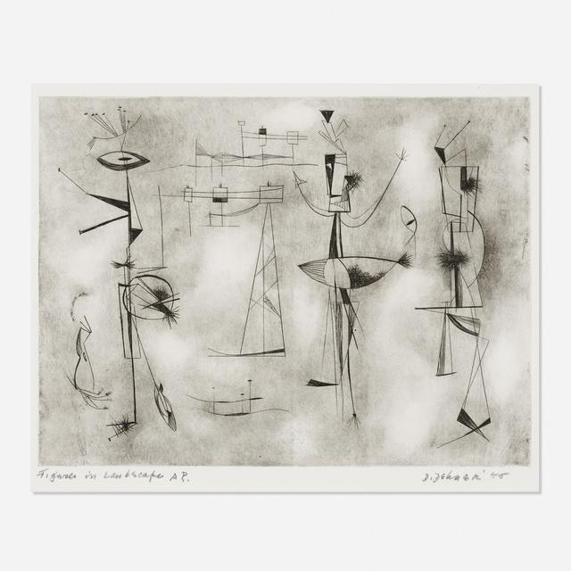 Dorothy Dehner, 'Figures in Landscape', 1955, Rago/Wright