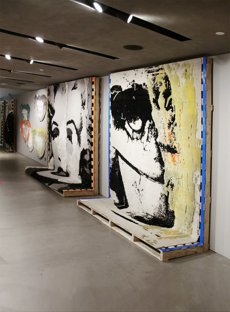 Installation at JOYCE featuring art carpets by ANDY WARHOL and LEO GABIN