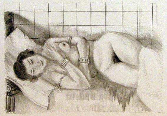 , 'Figure endormie, chale sur les jambes,' 1929, Cristea Roberts Gallery