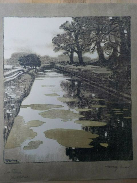 Willy Oertel, 'Am Kanal / Kanal in Schleissheim', ca. 1904, Print, Color lithograph, Sylvan Cole Gallery