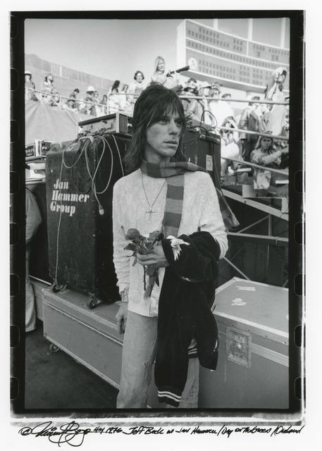 , 'Jeff Beck, Oakland California ,' 1976, Milk Gallery