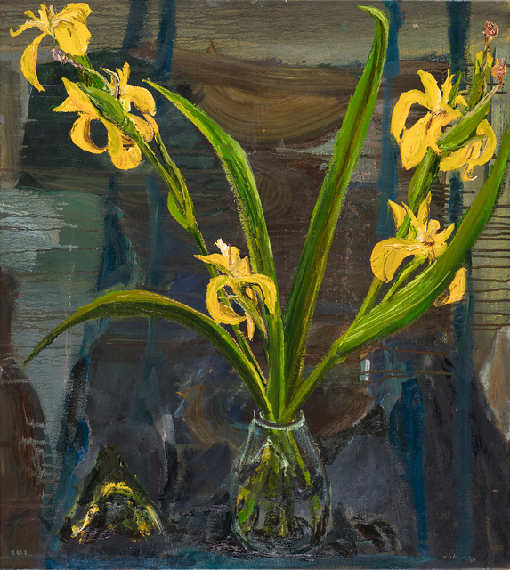 , 'Field Irises,' 2017, Oliver Sears Gallery