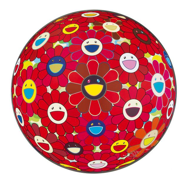 Takashi Murakami, 'Red Flower Ball (3D)', 2013, Julien's Auctions