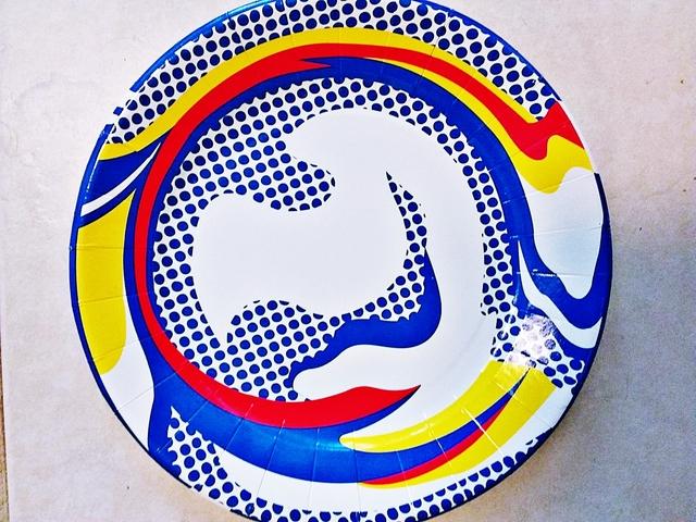 Roy Lichtenstein, 'Screenprinted Paper Plate', 2013, Print, Silkscreen on Paper Plate., Alpha 137 Gallery