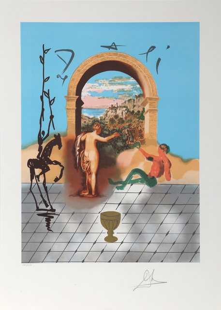 Salvador Dalí, 'Gateway to the New World from the Dali Discovers America Portfolio', 1979, Print, Lithograph on Japon, RoGallery