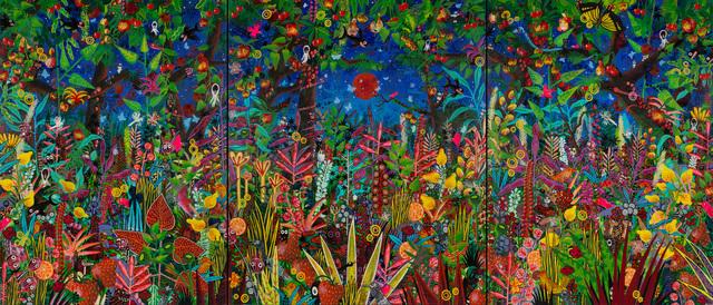 M.S. BASTIAN & ISABELLE L., 'Sommer - Paradis Mystérieux', 2015, Painting, Acrylic on canvas, GALERIE URS REICHLIN
