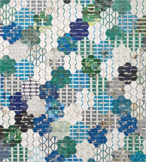 , 'Blue Green Honeycomb,' 2014, Joshua Liner Gallery