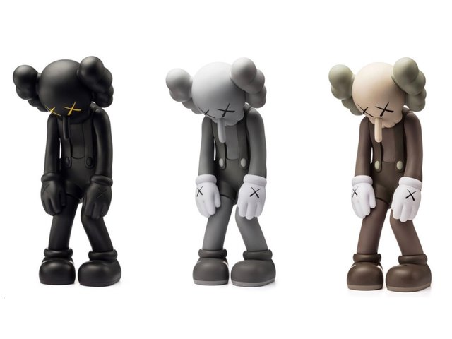 KAWS, 'Set of 3 Small Lie (Black, Brown & Grey)', 2017, Sculpture, Set of 3 painted cast vinyl figures, artrepublic