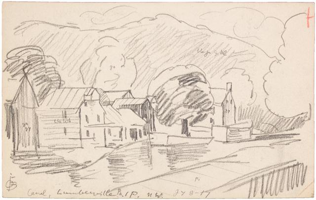 Oscar Bluemner, 'CANAL, LUMBERVILLE, PA ', 1917, Jerald Melberg Gallery