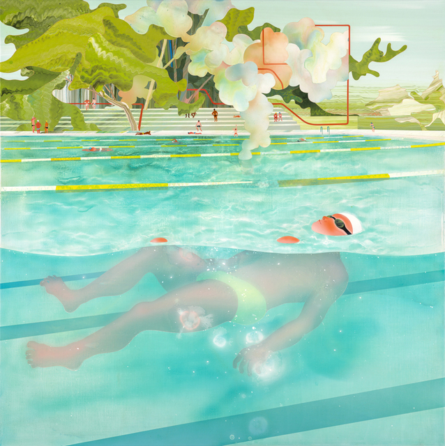, 'Swimming Pool Series — Floating,' 2014, Aki Gallery