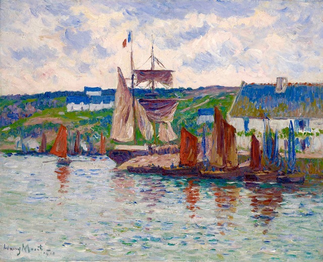 , 'Port en Bretagne,' 1910, Stoppenbach & Delestre