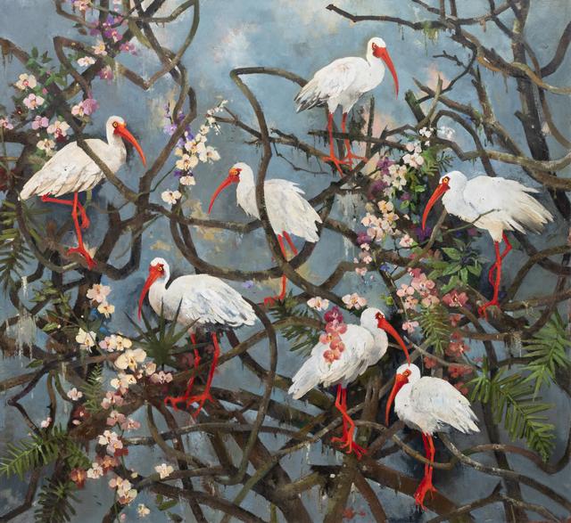 John Alexander, 'Ibis and Wonderland', 2019, Berggruen Gallery