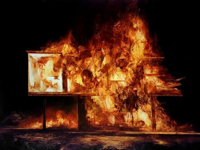 , 'Burning House (study 1) ,' , OLSEN GALLERY