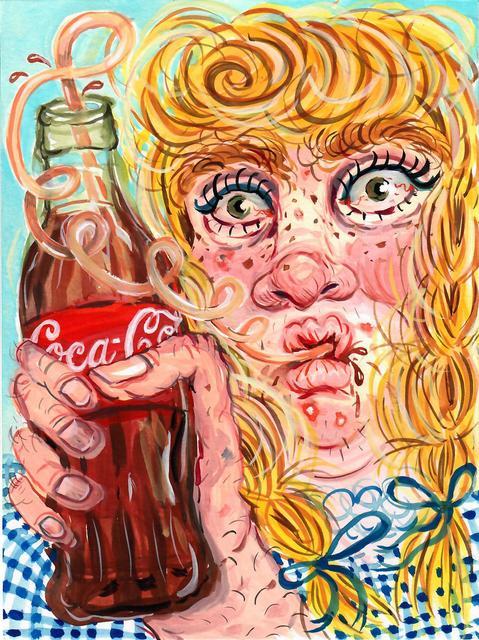 , 'Girl with Coke,' 2017, Asya Geisberg Gallery