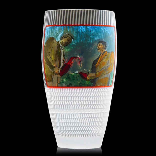 """Scott Chaseling, 'Massive vase, """"Liquid Lift,"""" Australia', 2005, Design/Decorative Art, Fused glass canes, murrine, velato surface, Rago/Wright"""