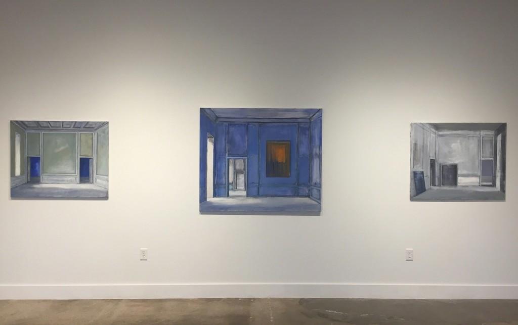 Installation View: Celedon - 18th Century Light - Three Paintings and Three Doors