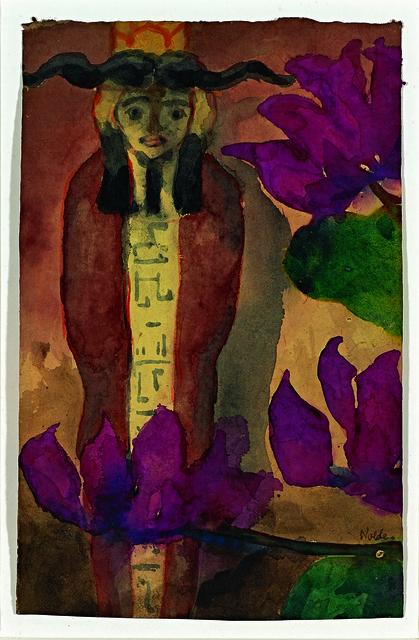 , 'Ägyptische Figur mit rotvioletten Blüten,' 1911-1912, Galerie Herold