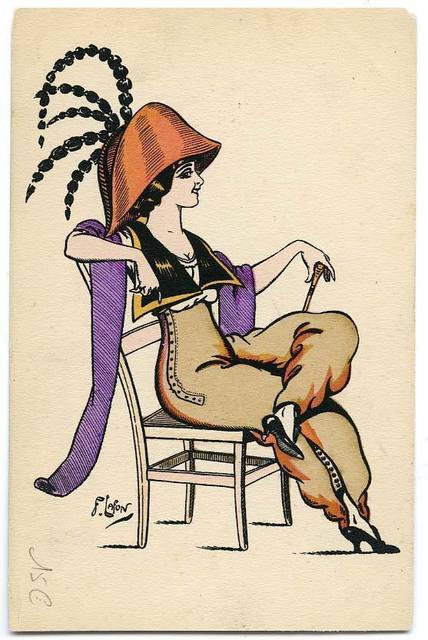 , 'Femme en pantalon,' 1910, Les Arts Décoratifs
