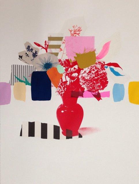 , 'Paper Bouquet (red vase),' 2017, Rebecca Hossack Art Gallery