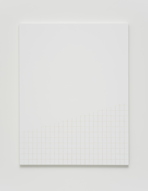 , 'Untitled (diagonally trimmed grid),' 2017, Casa Triângulo