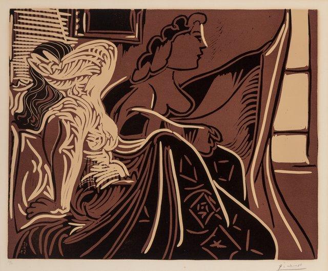 Pablo Picasso, 'Deux femmes prês de la fenêtre', 1959, Print, Linocut in colors on Arches paper, Heritage Auctions