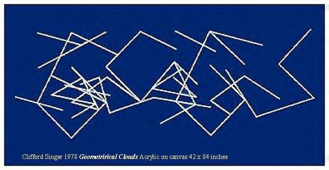 Clifford Singer, 'Geometrical Clouds', 1978, Painting, Acrylic on Canvas on wood stretcher, iMuseum Vegas