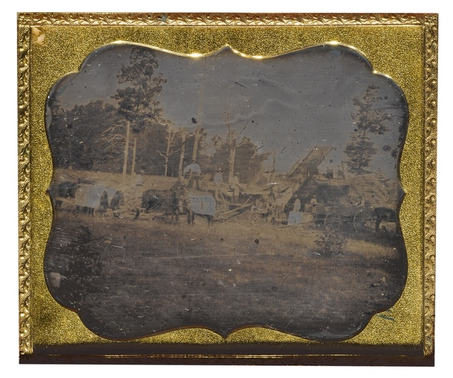 Anonymous American Photographer, 'Farmers Bailing Hay', 1854, Sotheby's