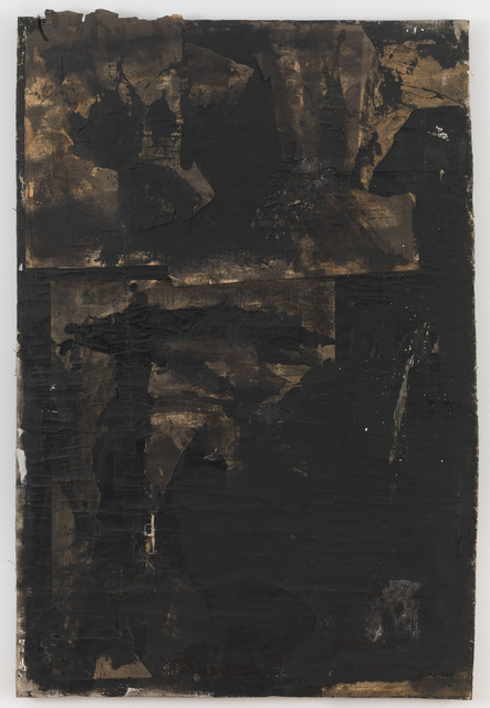 Robert Rauschenberg, 'Untitled', ca. 1952, Mixed Media, Paint and newspaper on primed cotton duck, Gagosian