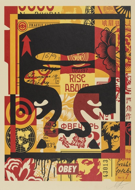 Shepard Fairey (OBEY), '3 Face Collage', 2011, Forum Auctions