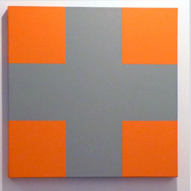 Aurelie Nemours, 'signe plus gris', 1988, Galerie Denise René