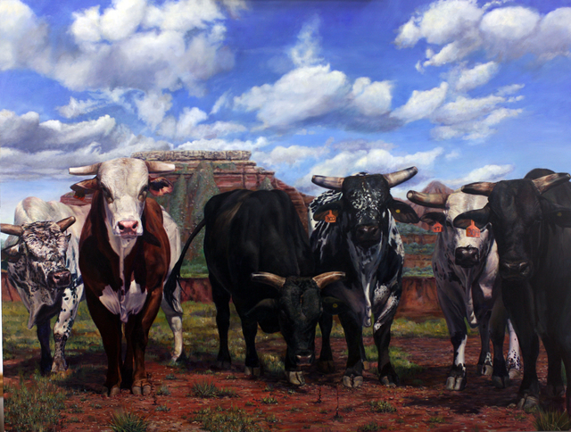 , 'Rodeo Stock #4 - Bulls,' 2018, M.A. Doran Gallery